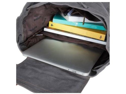 Women Laptop Canvas Backpack Travel School