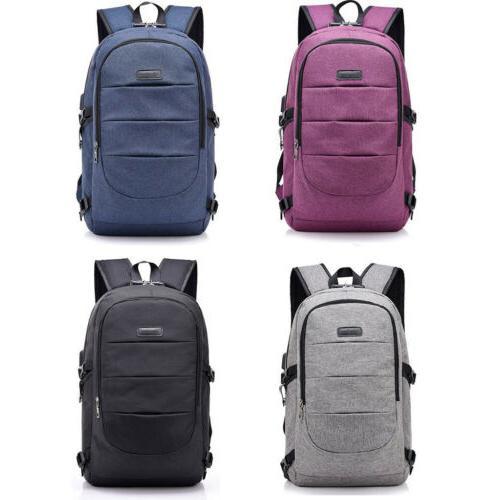 Women Anti-Theft Backpack Port Bookbag Laptop Bag