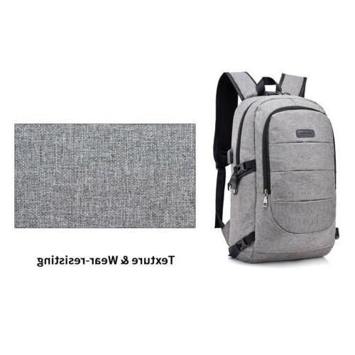 Women Men Backpack USB Bookbag Bag