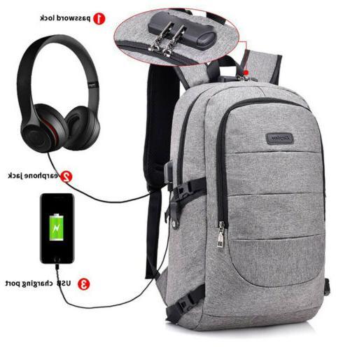 Women Anti-Theft Backpack USB Shoulder Bookbag Bag
