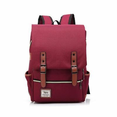 Women Men Leather Travel Sports Backpack Rucksack Bag