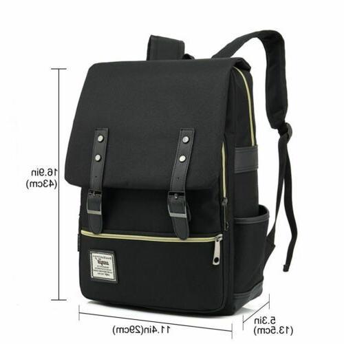 Women Leather Travel Satchel Rucksack Laptop