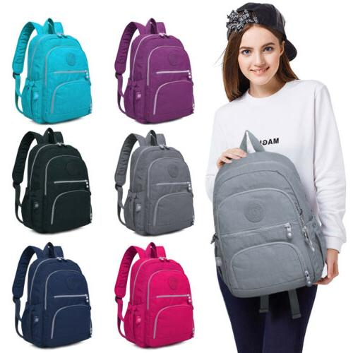 women school backpack laptop bag nylon waterproof