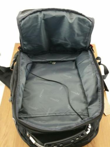 "Mancro Backpack 17"" USB Water Resistant"