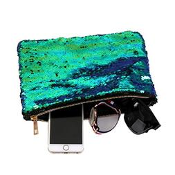 Outtop Ladies Fashion Double Color Sequins Clutch Handbag Co