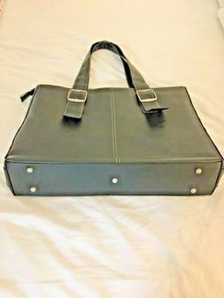 Solo Ladies' Laptop Tote, Pebble Leather, Black. NWOT