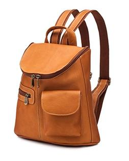 Le Donne Lafayette Classic Leather Backpack in Tan