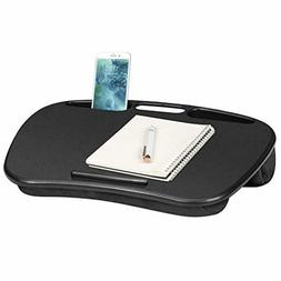 Lap Desk with Device Ledge and Phone Holder - Black - Fits U