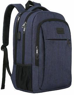 Laptop Backpack with USB Charging Port,Slim Travel Backpack