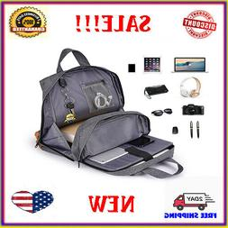 Laptop Backpack Anti-theft Mens USB with Charger Port Notebo
