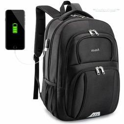 Laptop Backpack Black Carry Case Bag Travel Computer School