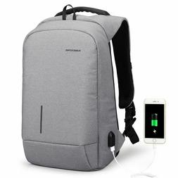 Laptop Backpack External USB Charge Anti-theft Wearable Wate