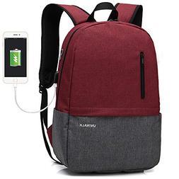 Laptop Backpack, Waterproof School Backpack With USB Chargin