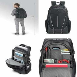 Solo Rival 17.3 Inch Laptop Backpack with Hardshell Side Poc