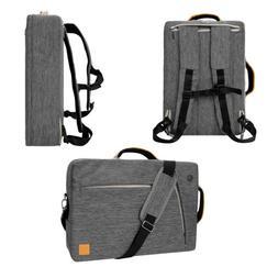 Gray VanGoddy Laptop Backpack Messenger Bag for 15.6'' Dell