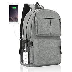 Winblo Laptop Backpack, 15 15.6 Inch College Backpack with U