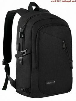 Mancro Laptop Backpack Travel Computer Bag for Women & Men,