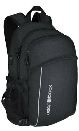 Laptop Backpack w/USB Charger Port ~ Fits 17 Inch Laptop