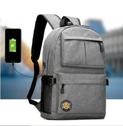 Avigo Bags Laptop Backpack with USB Charging Port - For Scho