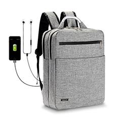 Yiwalab Laptop Backpacks with USB Charging Audio Port for Co