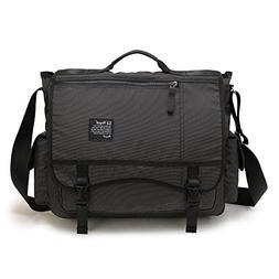 Nicgid Large Messenger Bag, 17.3-Inch Laptop Messenger Bag B