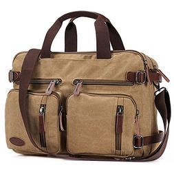 17 Inch Laptop Briefcase,Hybrid Laptop Backpack Messenger Ba