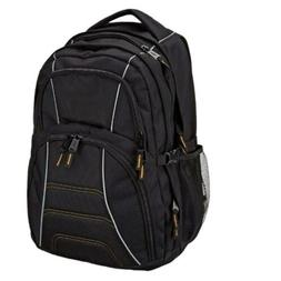 AmazonBasics Laptop Computer Backpack Black Fits Up To 17 In