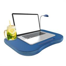 Laptop Lap Desk, Portable with Foam Filled Fleece Cushion, L