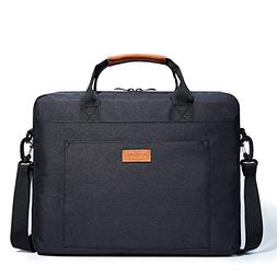 KALIDI Laptop Shoulder Bag, 17.3 Inch Notebook Briefcase Mes