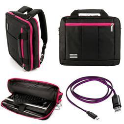"""VanGoddy Laptop Shoulder Carry Bag Backpack For 11.6"""" HP Chr"""
