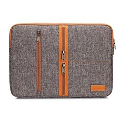 DOMISO 14 Inch Laptop Sleeve Canvas Notebook with Zipper Tab