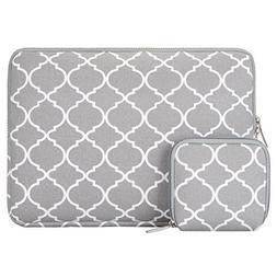 Laptop Sleeve, Mosiso Quatrefoil Moroccan Trellis Style Canv