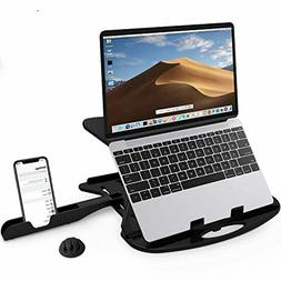 CARNATION Laptop Stand Desk with Phone Stand and Cable Clip.