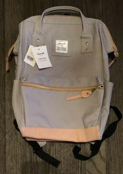 Himawari Laptop Travel Backpack with USB Charging Port Pink