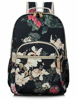 Leaper Large Cute Women Book Bag Girls Laptop Canvas Backpac