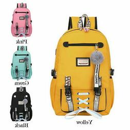 Large School Bags for Teenage Girls Usb with Lock Anti Theft