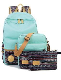 Leaper Canvas Laptop Bag School Backpack Shoulder Pencil Cas