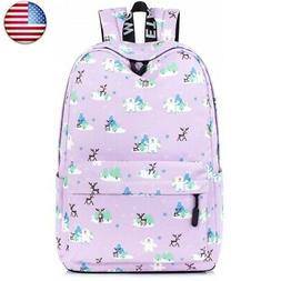 Leaper Deer Laptop Backpack Travel Bag School Backpack Girls