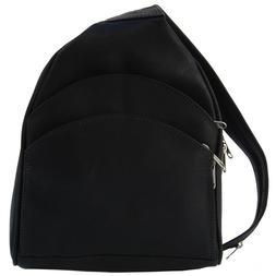 Piel Leather Backpack Sling - Black