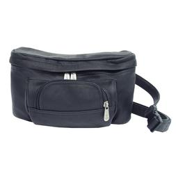 Piel Leather Carry-All Waist Bag - Black
