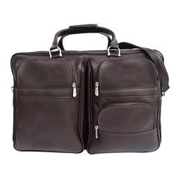 Piel Leather Complete Carry-All Bag - Chocolate