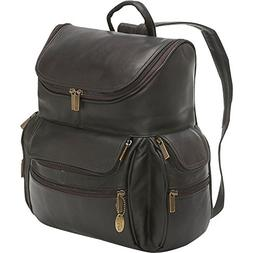 95416f648517 David King Leather Large Computer Backpack in Cafe