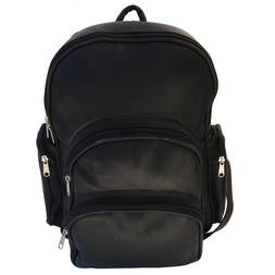 Piel Leather Expandable Backpack - Black