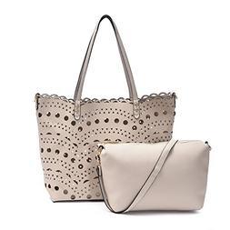 Leather Hollow Tote Bags Women Summer Beach Handbags Crossbo