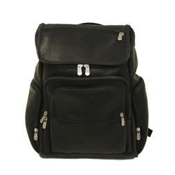 Piel Leather Multi-Pocket Laptop Backpack - Black