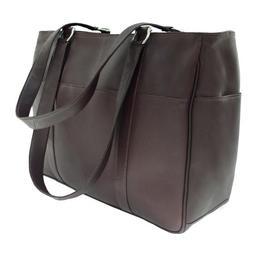 Piel Leather Medium Shopping Bag - Chocolate