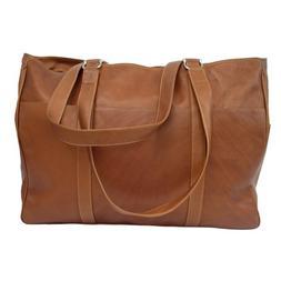 Piel Leather Large Shopping Bag - Saddle
