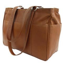 Piel Leather Medium Shopping Bag - Saddle