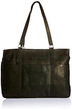 Piel Leather Large Shopping Bag - Black