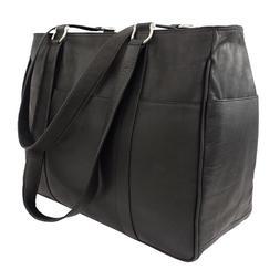 Piel Leather Medium Shopping Bag - Black